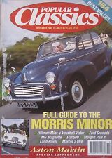 Popular Classics 11/1992 featuring Aston Martin, BMW, MG, Marcos, Morris, Ford
