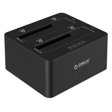 "ORICO 2.5"" 3.5"" USB 3.0 Dual-Bay HDD Clone Docking Station SATA External Storage"