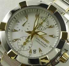 Seiko Women's Velatura Chronograph Watch SNDZ40P1, Warranty, Box
