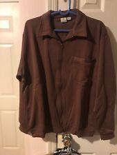 NWOT HABAND Zip Up Jacket Mens Size Large Brown