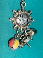 "🌸 Brighton ""Fun in the Sun"" Beachball Umbrella Key FOB Key Chain(K24) NWT 🌸"