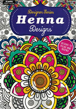 Adult Coloring Book - Designer Series - Henna Designs - NEW -