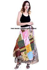 Long Hippy Patchwork Skirt, Boho Hippie Wrap Skirt, Bohemian Ethnic Festival Goa