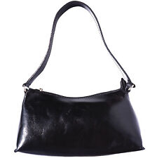 Shoulder Bag Italian Genuine Leather Hand made in Italy Florence 6504 bk