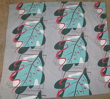"""Vintage Curtain Panel Atomic Leaf Print 26"""" x 29"""" (one only) Mid Century"""