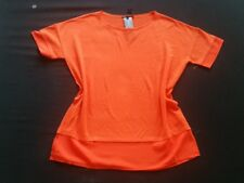 LUISA CERANO Shirt orange Leinen/Baumwolle Gr.42/44--UK16/18***NEU