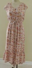 LUCKY BRAND NWT Womens XL Lilac Lavender Floral Paisley Boho S/S Button Dress