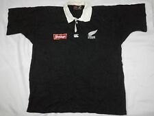 RARE VTG 90s STEINLAGER CANTERBURY of NEW ZEALAND POLO RUGBY ALL BLACKS SHIRT L