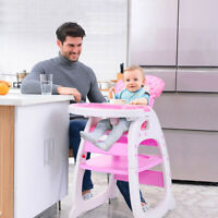 3 In 1 Baby High Chair Table Convertible Play Seat Booster Toddler with Tray