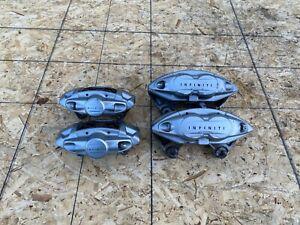 BIG BRAKE AKEBONO CALIPER CALIPERS SET INFINITI FX50 FX35 QX70 (09-19) OEM