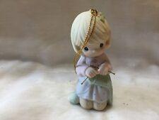 Precious Moments~Ornament~610035~G randma Your Love Keeps Me Warm~Knitting Needle