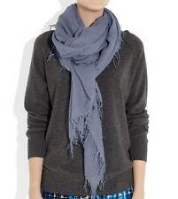 New Chan Luu Women Long Crinkle Soft Cashmere Silk Neck Scarf Wrap Cloud Grey