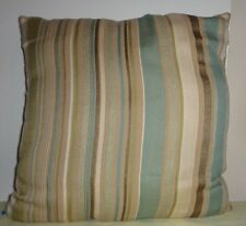 Multicolor Blue Brown Beige White Striped Pillow Throw Square Cushion Home Decor