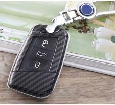 Carbon Fiber key cover For Volkswagen VW Tiguan MK2 2017 2018 Passat B7 B8 CC
