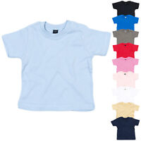 Babybugz Short Sleeve Crew Neck Cotton Toddlers Baby Boys Girls Tee T-Shirt Top