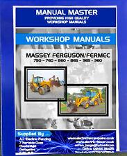 Massey Ferguson,Fermec Digger Workshop Manual 750,760,860,865,965,960,Printed