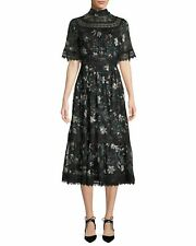 kate spade new yorkbotanical chiffon mock-neck midi dress RRP £505