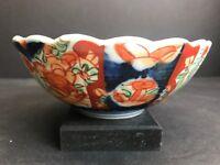 VTG 19TH C. Antique Japanese Imari Hand Painted Porcelain Ceramic Bowl