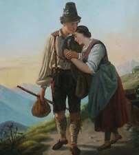 Greisl Jeremias *1831 Schongau Der Abschied GENRE Trachten Disteln München WALZ