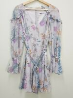 [ COOPER ST ] Womens Floral Print Long Sleeve Dress  | Size AU 8