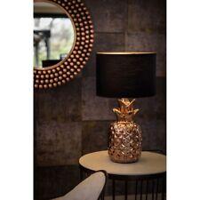 Modern Copper Ceramic Fruit Design Desk Table Lamp Black Shade Lounge Light