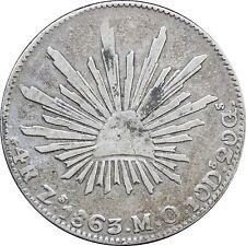 Mexico 4 Reales Zs 1863 M.O. Zacatecas.