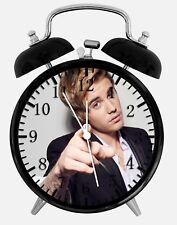 "Justin Bieber Alarm Desk Clock 3.75"" Home or Office Decor E361 Nice For Gift"