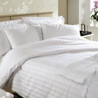 Ramco 500TC Egyptian Cotton Hotel Quality KING|QUEEN Sheet Set in White Stripe