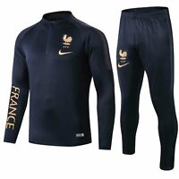 France Mens Royal Blue Training Soccer Sports Jersey Jacket Tracksuit Sets