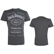 Jack Daniels - Classic White Logo / Grey - T-Shirt - Größe Size M - Neu