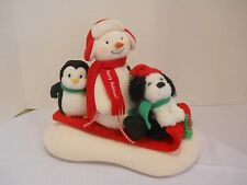 Christmas Hallmark Jingle Pals Singing Snowman Dog Penguin Sled Dog Plush snow