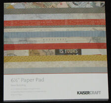 """Kaisercraft 'NOW BOARDING' 6.5"""" Paper Pad KAISER *Deleted 2 LEFT ONLY*"""