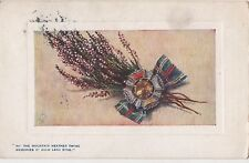 POSTCARD  SONG CARDS  The Mountain Heather twine.Auld lang Syne...    TUCK