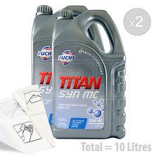 Car Engine Oil Service Kit / Pack 10 LITRES Fuchs TITAN SYN MC 10w-40 10L