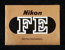 NIKON FE ORIGINAL INSTRUCTION MANUAL IN ENGLISH NICE CONDITION.
