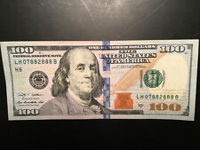 $100 Federal Reserve Note One Hundred Dollar Bill ***AMAZING*** Serial Number !