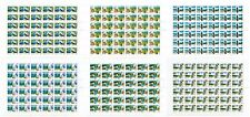 RUSSIA 2007 Sc# 7037-42 Full Sheets, Regions of Russia, MNH