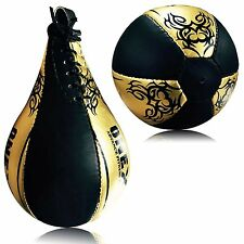 Leather Speed Ball Boxing Punching Ball Martial Arts Training MMA Pro