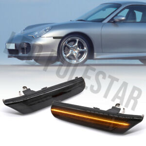 Smoked Lens Amber Led Front Side Marker Light for 97-04 Porsche Carrera 996 986