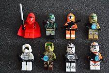 Lot 8 minifig figurine personnage STAR WARS neuf Dark Vador Maul Jedi Trooper