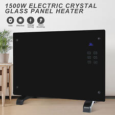 BN Electric Crystal Glass Flat Convector Panel Heater Home Office Room New