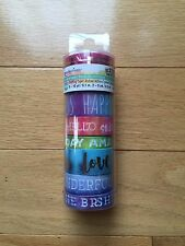 Brand New Recollections washi tape set color splash words watercolor