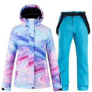 Colorful Women's Snowboard Winter Waterproof  Outdoor Ski Jacket + Snow Pants