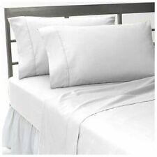 Hotel Quality Fitted/Flat/Shet Set WHITE SOLID 1000TC 100%EGYPTIANCOTTON UK-SIZE