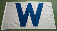 "Wrigley Field Chicago Cubs Blue ""W"" WINdy City Victory Flag 3X5"