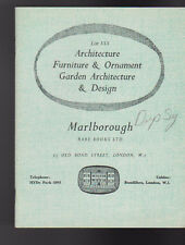 Marlborough Rare Books List XXX Architecture Furniture & Ornament