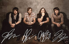 KINGS OF LEON ENTIRE GROUP AUTOGRAPH SIGNED PP PHOTO POSTER