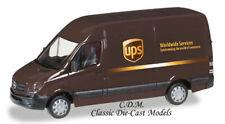 UPS Mercedes Sprinter Delivery Van Brown 1/87 HO Promotex 93408