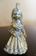 Vintage Brass Indian Lady Figurine - Traditional Costume