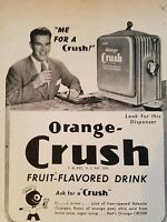 1946 Orange Crush fruit-flavored drink soda dispenser ad